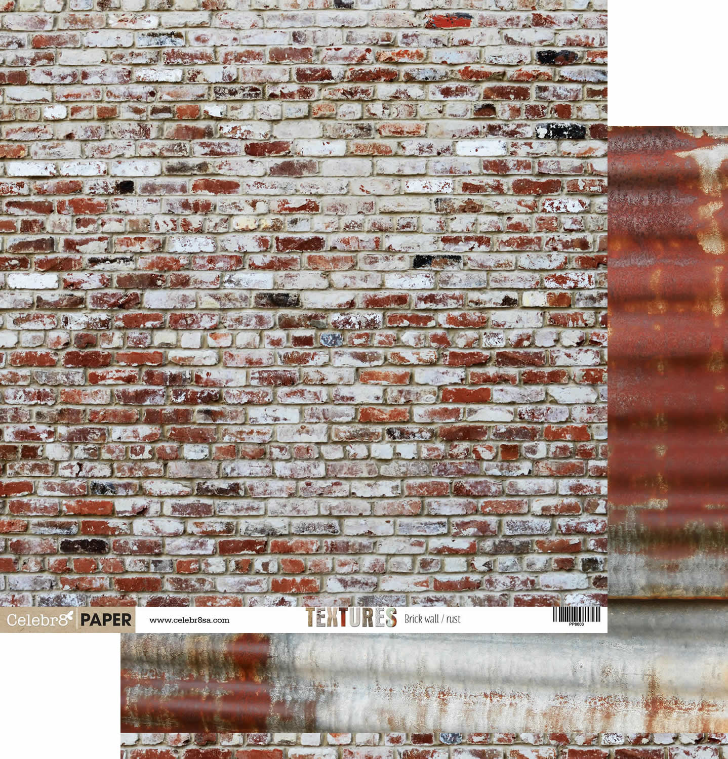 celebr8 12 x 12 double sided paper textures 3 brick wall