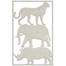 3 wild animals 4.3 x 7