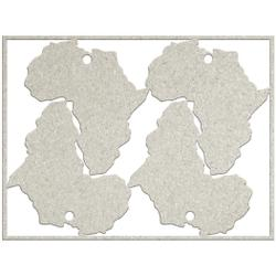 4 Africa tags 7.1 x 5.3
