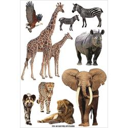 African animals stickers
