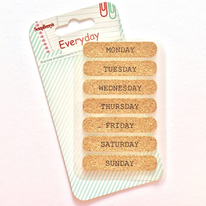 Cork Days of the Week Stickers