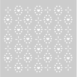 Heart Pattern 8 X 8